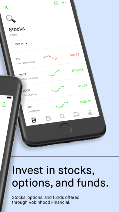 Screenshot of Robinhood: Investing for All App