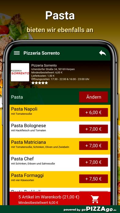 Pizzeria Sorrento Kerpen screenshot 6