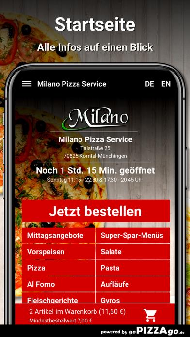 Milano Pizza Service Korntal screenshot 2