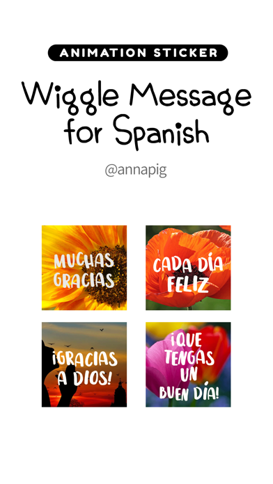 Wiggle Message for Spanish screenshot #1