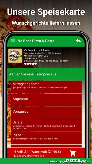 Va Bene Pizza - Pasta Backnang screenshot 4