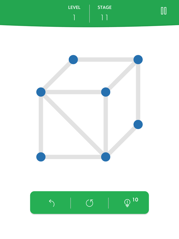 1LINE one-stroke puzzle gameのおすすめ画像2