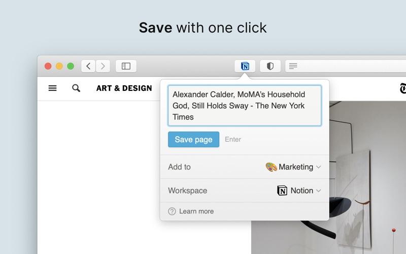 Notion Web Clipper Screenshot
