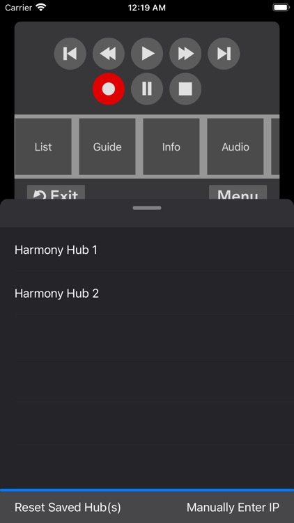 Remote Control for Harmony Hub