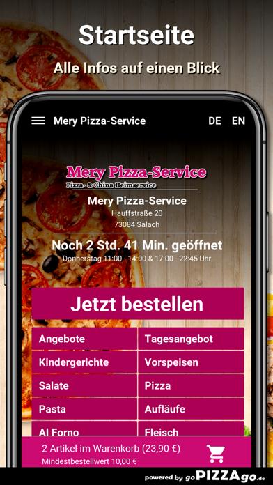 Mery Pizza-Service Salach screenshot 2