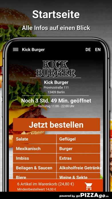 Kick Burger Berlin screenshot 2