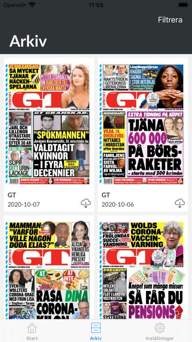 GT Tidning på PC