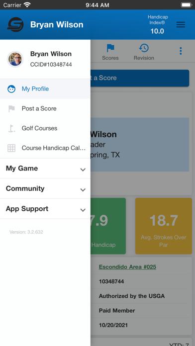 SwingTrac Handicap Screenshot