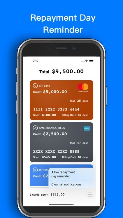 Credit Cards Manager screenshot-3