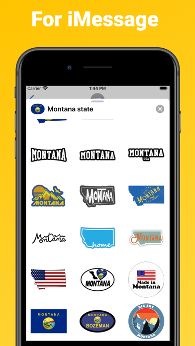 Montana state - USA stickers screenshot 3