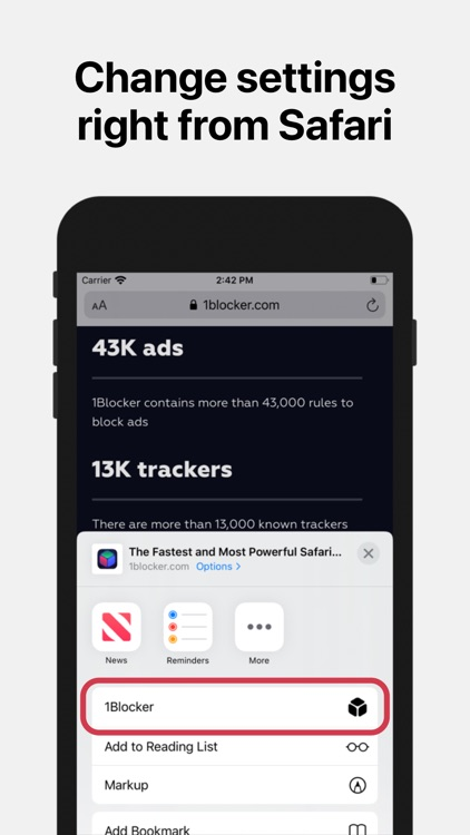 1Blocker: Ad Blocker & Privacy screenshot-4