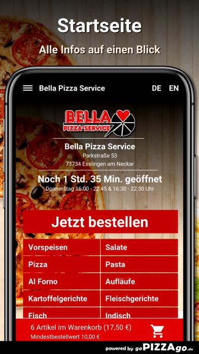 Bella Pizza Service Esslingen screenshot 2