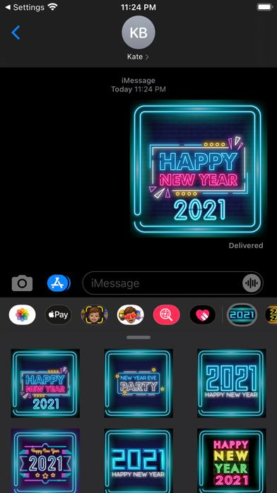 Neon New Year Stickers 2021 screenshot 1