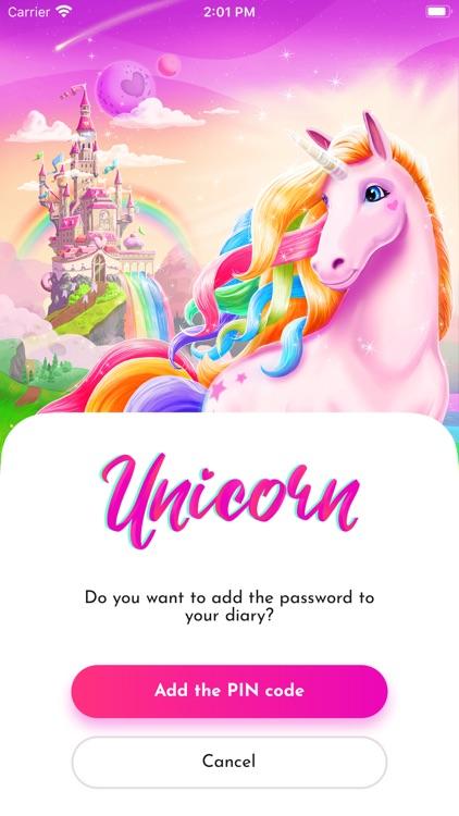Unicorn Diary (with password)