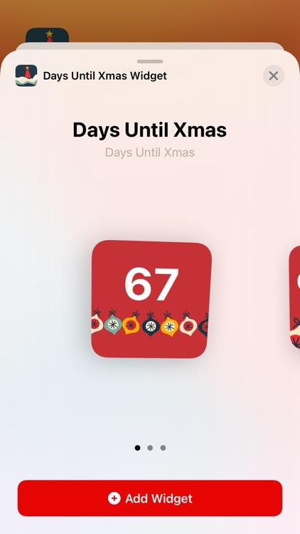 Days Until Xmas Widget screenshot-3