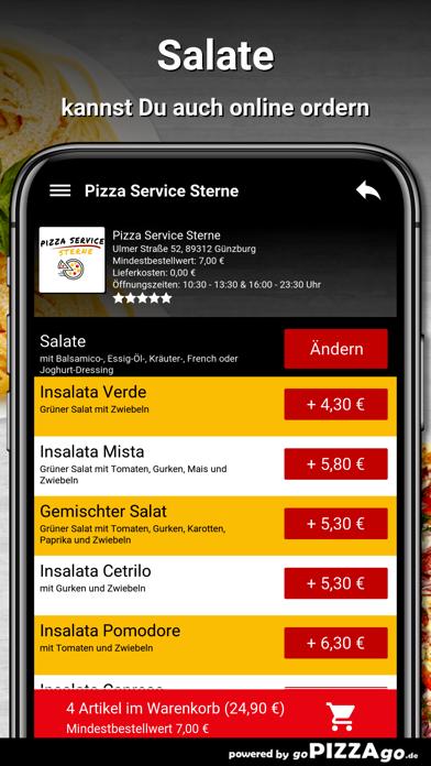 Pizza Service Sterne Günzburg screenshot 5