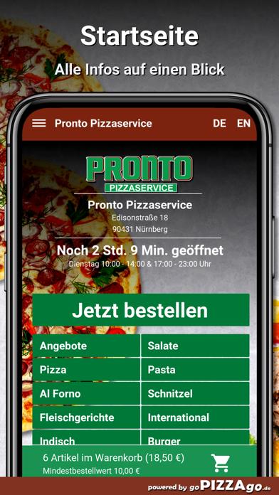 Pronto Pizzaservice Nürnberg screenshot 2