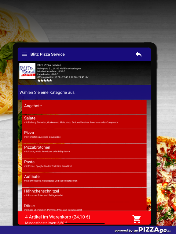 Blitz Pizza Kiel Elmschenhagen screenshot 8
