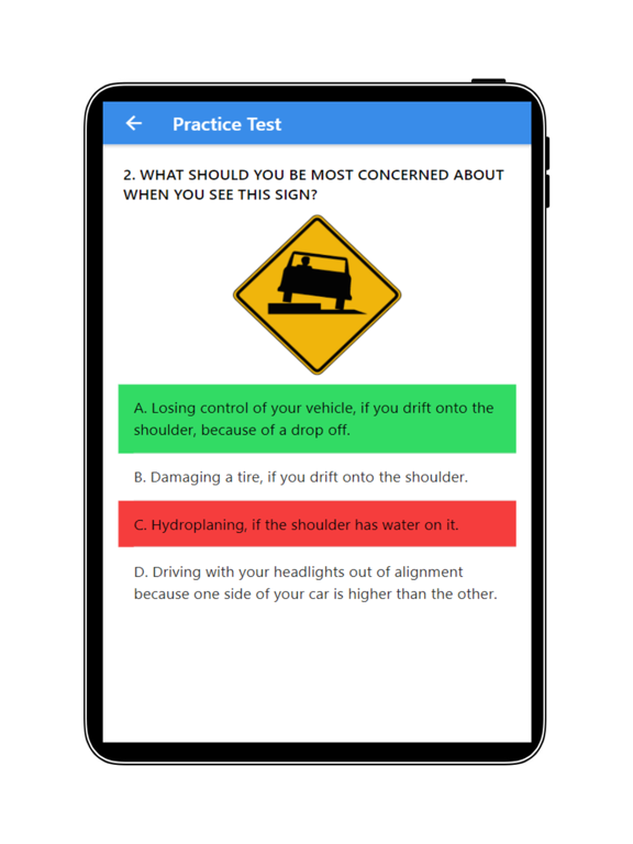 Practice Test USA & Road Signs screenshot 18