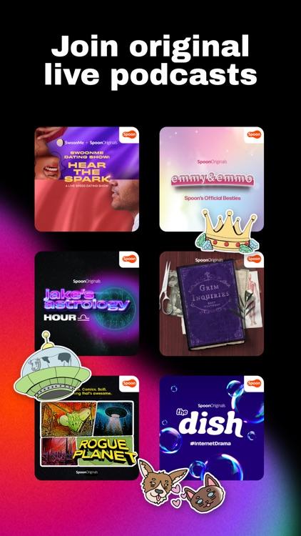 Spoon: Livestream chat & music screenshot-3