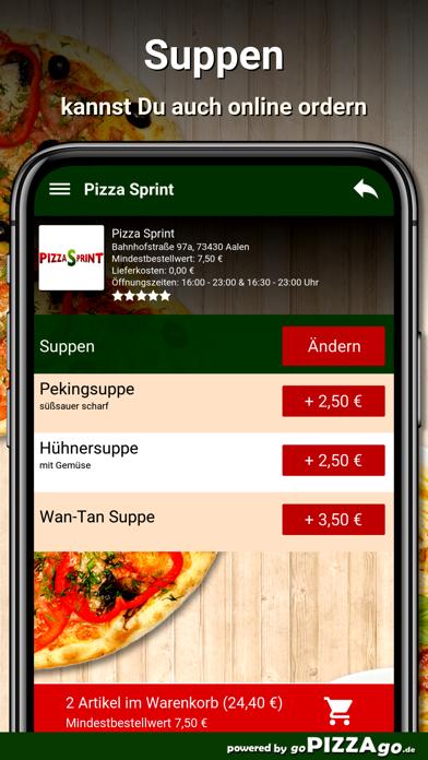 Pizza Sprint Aalen screenshot 5