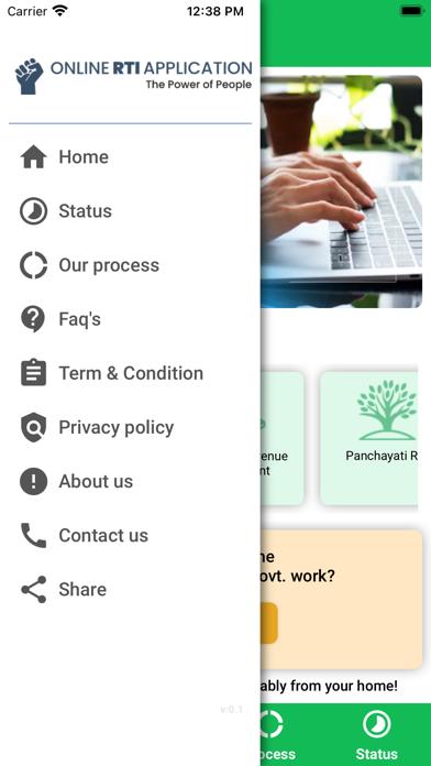 Online RTI Application screenshot 4