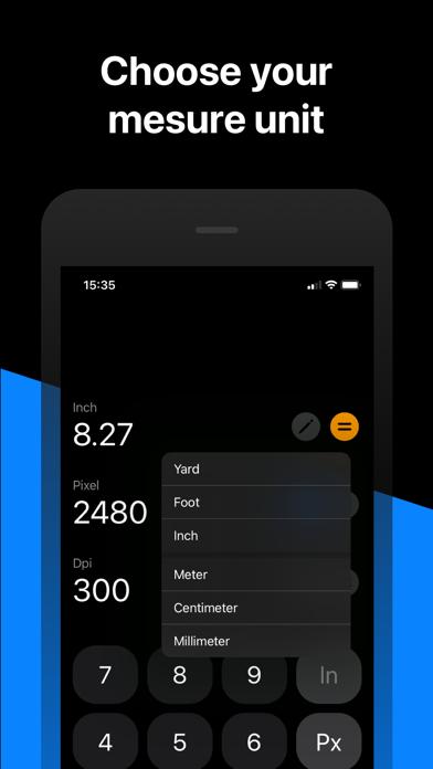 Convertui - Pixel to Inch Screenshot