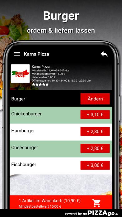Karns Pizza Gößnitz screenshot 6