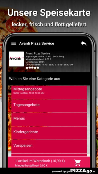 Avanti Pizza Service Günzburg screenshot 4