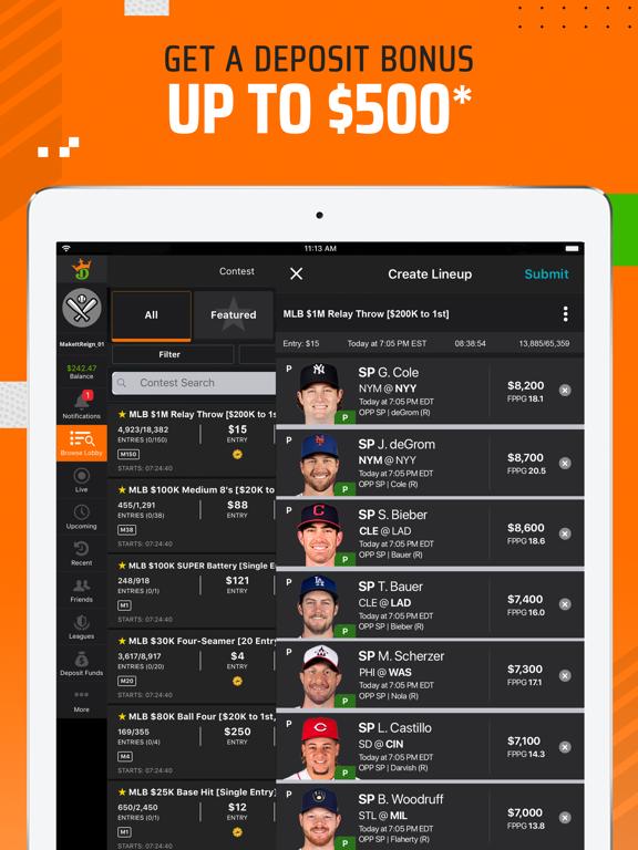 DraftKings Fantasy Sports screenshot
