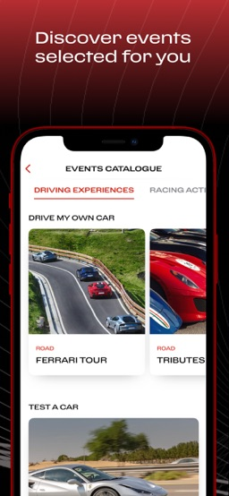 MyFerrari app screenshot