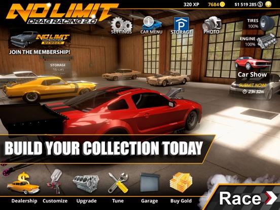 Ipad Screen Shot No Limit Drag Racing 2 1