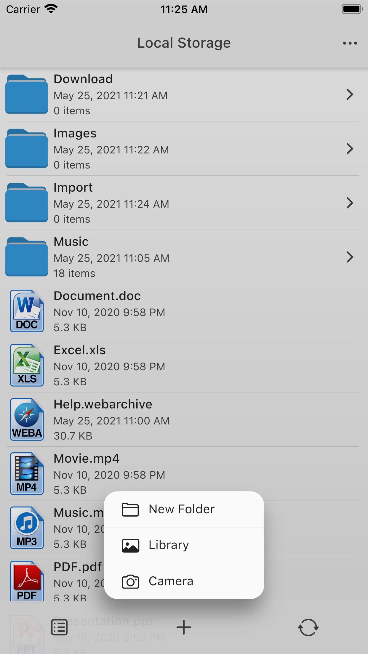 Screenshot do app AirDisk Pro