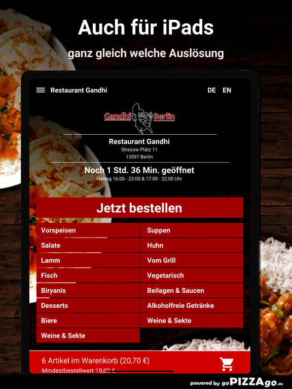 Restaurant Gandhi Berlin screenshot 7