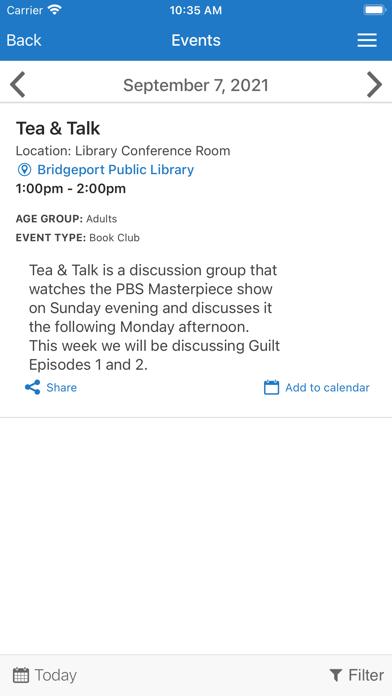 Bridgeport Public Library screenshot 2