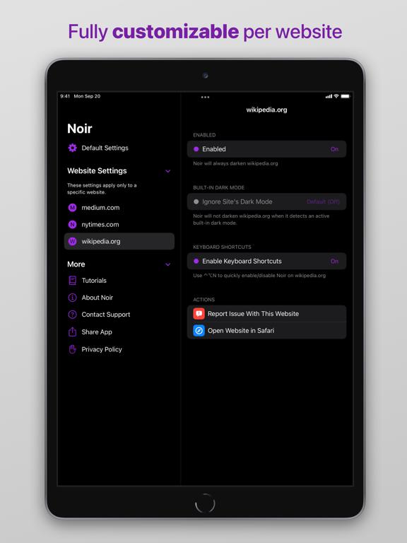 Noir - Dark Mode for Safari screenshot 8