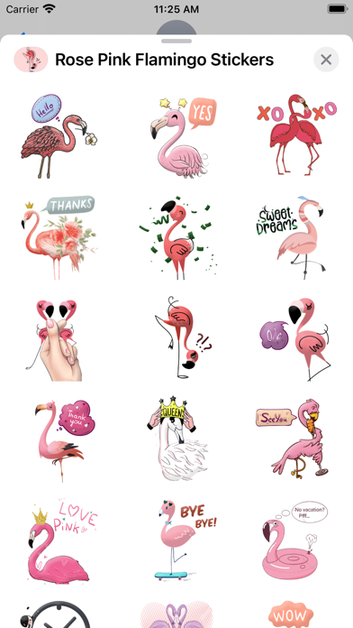 Rose Pink Flamingo Stickers screenshot 2