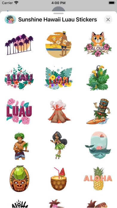 Sunshine Hawaii Luau Stickers screenshot 2