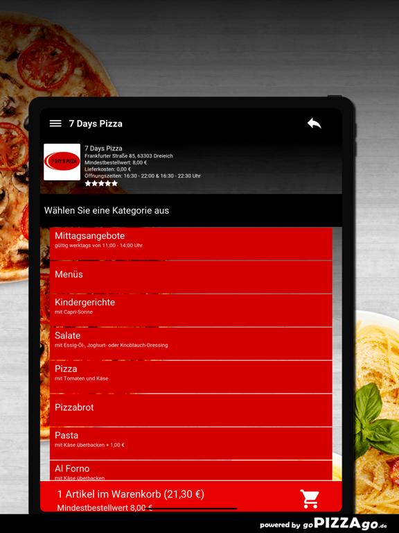 7 Days Pizza Dreieich screenshot 8