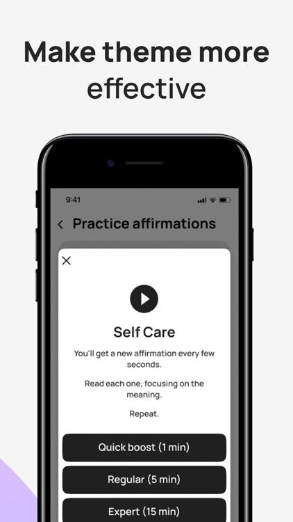 Daily Affirmations - self care screenshot-3