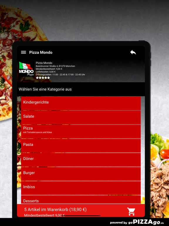 Pizza Mondo München screenshot 7