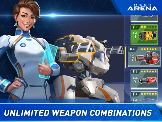Mech Arena: Robot Showdown iPad app afbeelding 4