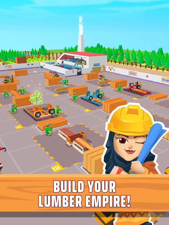 Lumber empire: idle tycoon iPad app afbeelding 1