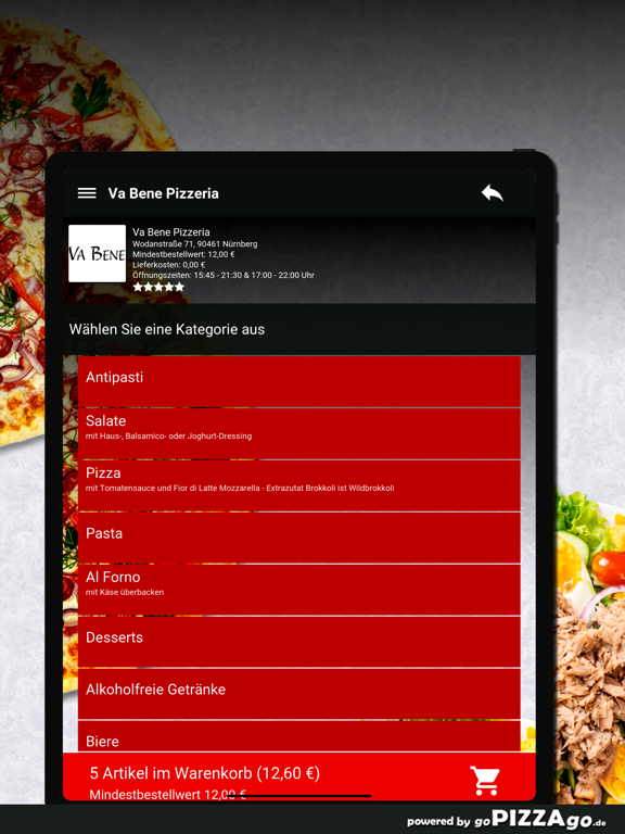 Va Bene Pizzeria Nürnberg screenshot 8
