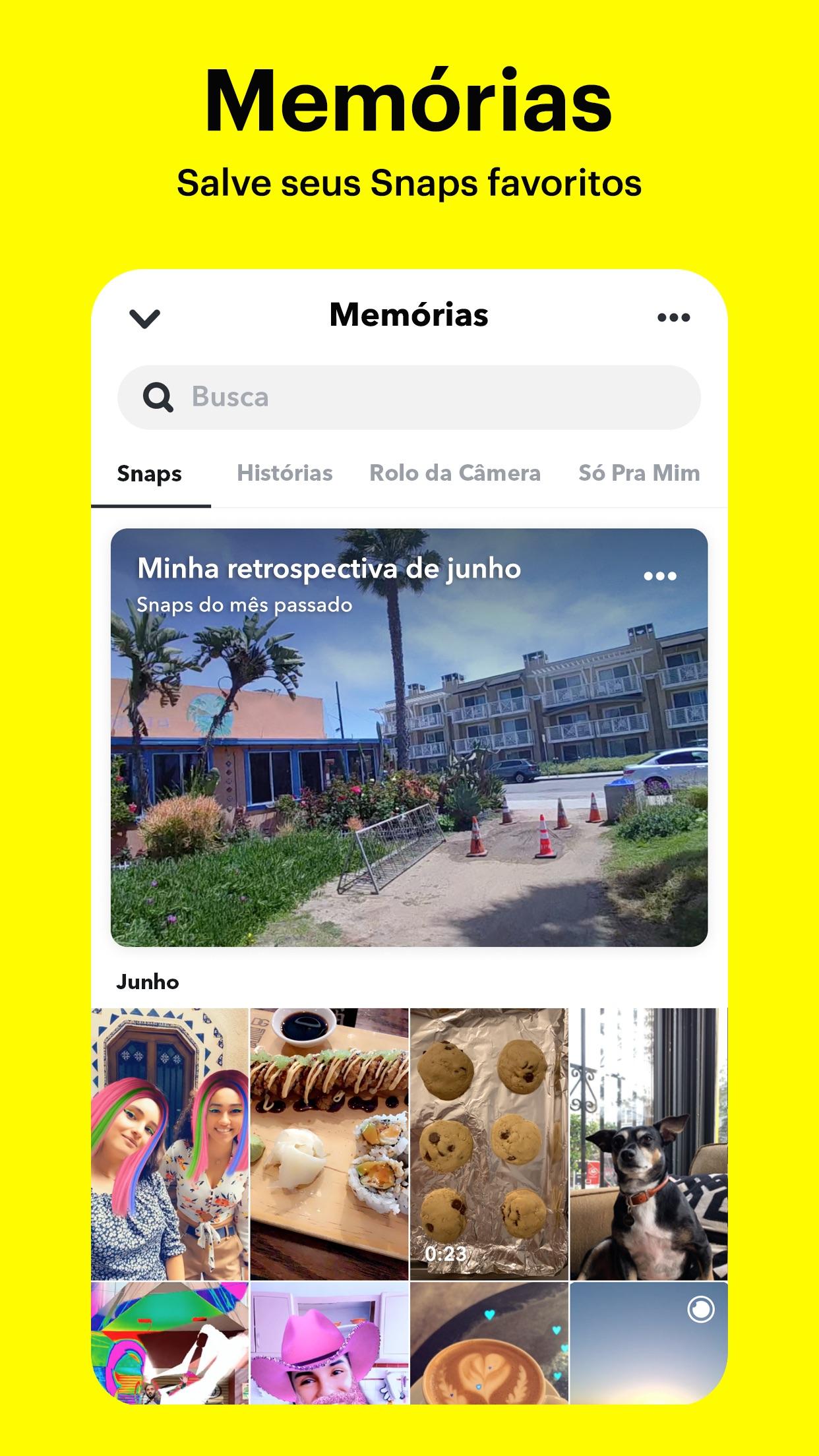 Screenshot do app Snapchat