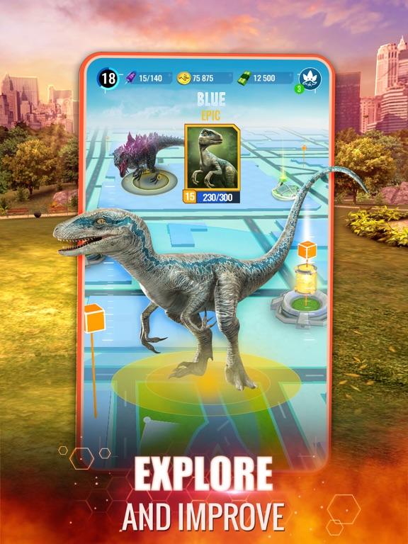 Jurassic World Alive iPad app afbeelding 4