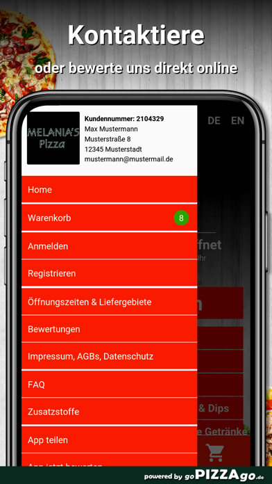 Melanias Pizza Reutlingen screenshot 3
