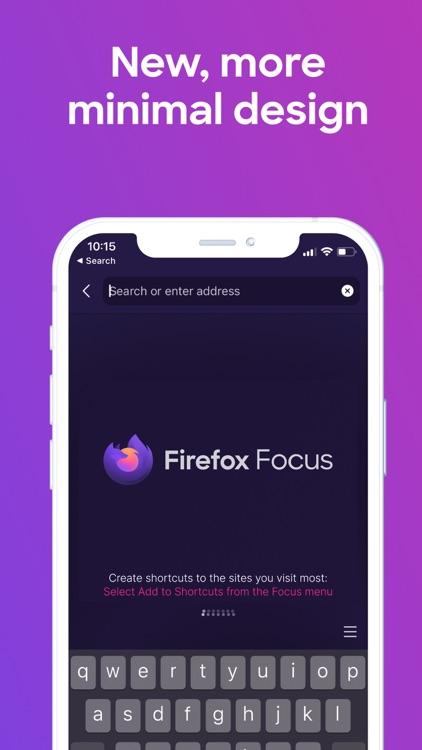 Firefox Focus: Privacy browser screenshot-0