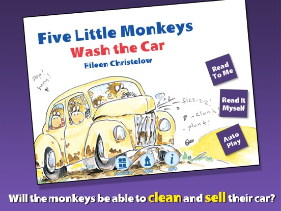 5 Little Monkeys Wash the Carのおすすめ画像1