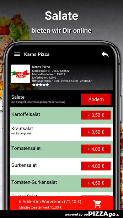 Karns Pizza Gößnitz screenshot 5